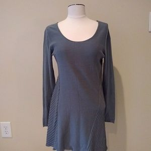 Soft Surroundings Tunic Top Asymmetric Hem XS Gray